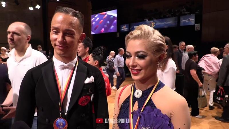 Evgeny Moshenin - Dana Spitsyna RUS, Interview, German Open Championships 2019