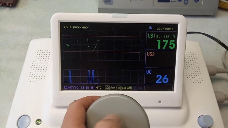 Фетальный монитор кардиотокограф монитор КТГ