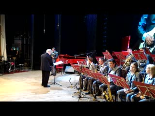Rock'n'roll guitar solo of evgen with jazz big band