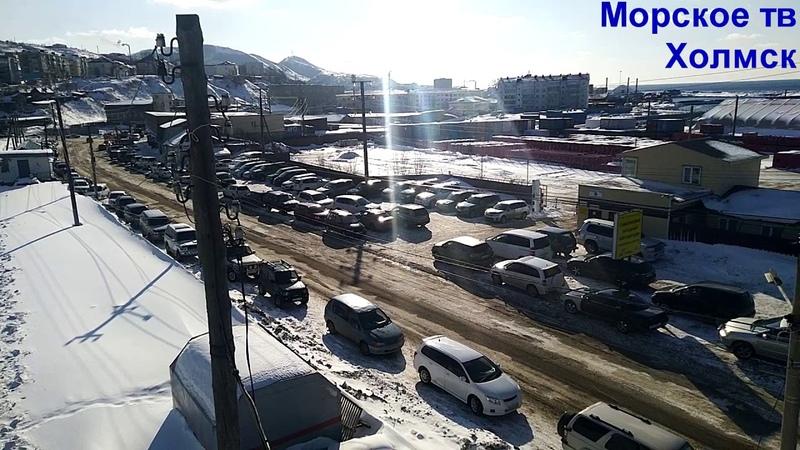 Автомобилям возле Северо-Западного порта города Холмск требуется парковка