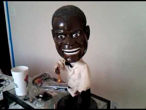 Creepy Louis Armstrong Singing Doll - Low Battery