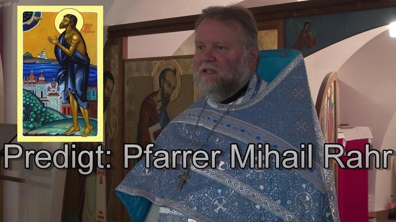 Tempel Gottes zu sein Predigt Pfarrer Mihail Rahr 08 12 2019 Berlin