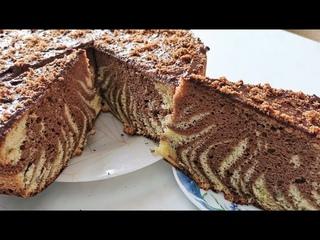 Бисквитный пирог Зебра. ПОЛУЧИТСЯ У ВСЕХ!!! Sponge cake.