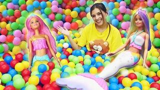 Классные игры для девчонок. В мире морском с Barbie Dreamtopia! Новое видео про куклы.