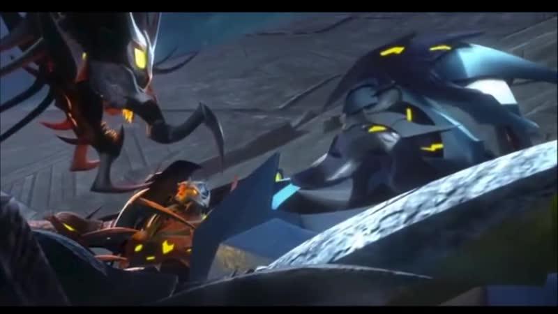 Transformers Prime Beast Hunters Predacons Rising Predaking vs Darksteel Skylynx