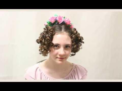 Мастер класс по созданию бальной причёски эпохи ампир Regency Ball Hairstyle Tutorial