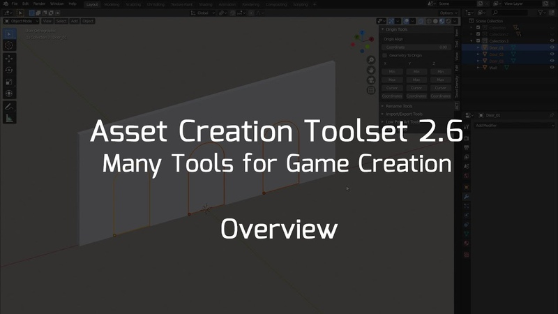 Asset Creation Toolset 2.6 - Features Overview (Blender Addon)