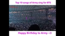 Top 20 Songs of ARMY sing for BTS