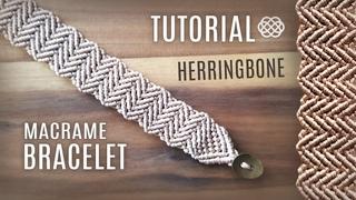 Herringbone Bracelet DIY Macrame Chevron Pattern