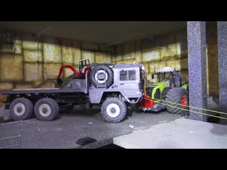 FANTASTIC RC TRUCKS AND VEHICLES IN ACTION! VOLVO LOADER! MAN 6X6! VOLVO A45G! CLAAS XEREON 5000 RC models