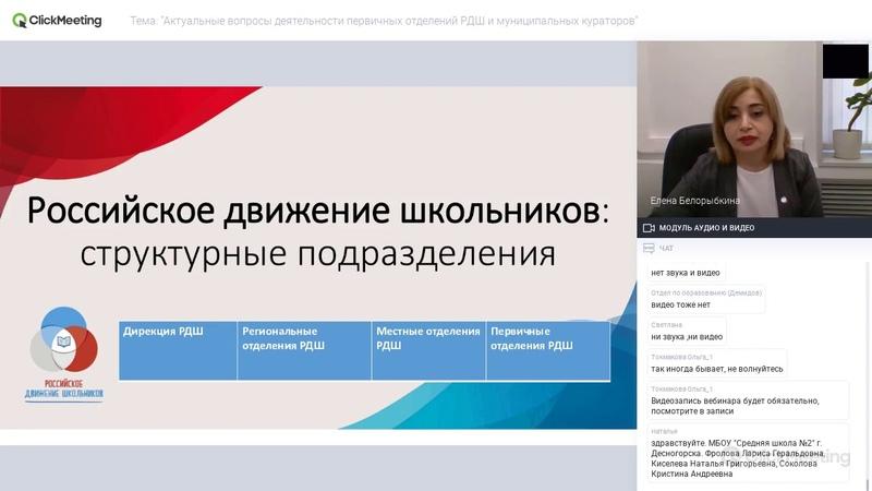 Актуальные вопросы деятельности первичных отделений РДШ и муниципальных кураторов 20 02 2020 г