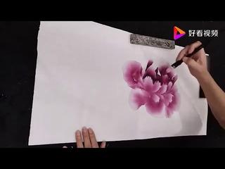 Китайская живопись гохуа. Рисуем пион
