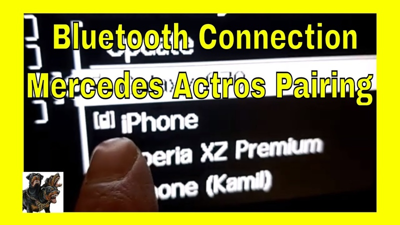 Bluetooth connection - Mercedes Actros