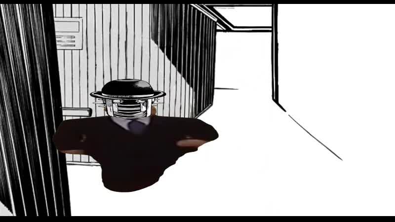 лютый Акефу Сатору идёт в лабораторию Госпиталя Университета TG