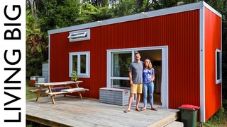 Amazing DIY Tiny House Parked In Nudist Club || Living Big In A Tiny House