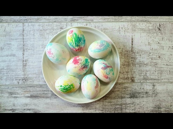 Как покрасить яйца на Пасху Мой эксперимент Пасхальный декор Мама в творчестве DIY