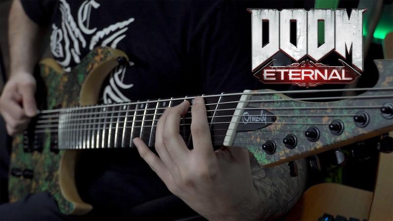 DOOM ETERNAL OST BFG 10000 Mick Gordon 8 String Guitar Cover