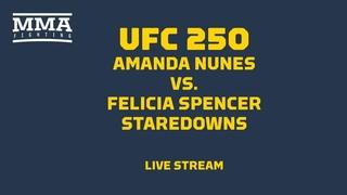 UFC 250 Nunes vs. Spencer Staredowns Live Stream - MMA Fighting