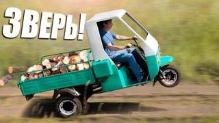 Муравей 3.0 - Тюнинг старого советского Мотороллера   Самодельная кабина и двигатель от мотоблока