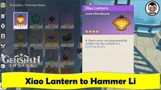 Talk to Hammer Li   Give Xiao Lantern   Hammer and Wrench   Genshin Impact   NJMH Gaming