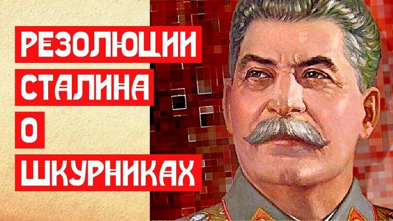 Резолюции Сталина о шкурниках
