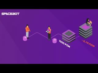 SPACE BOT - мобильное приложение для добычи криптовалюты