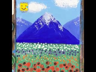 Как нарисовать летний  пейзаж просто/ Урок рисования для детей 6 лет