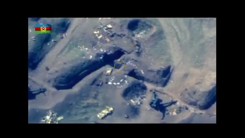 Минобороны Азербайджана новые кадры ударов азербайджанских БПЛА и артиллерии в Карабахе