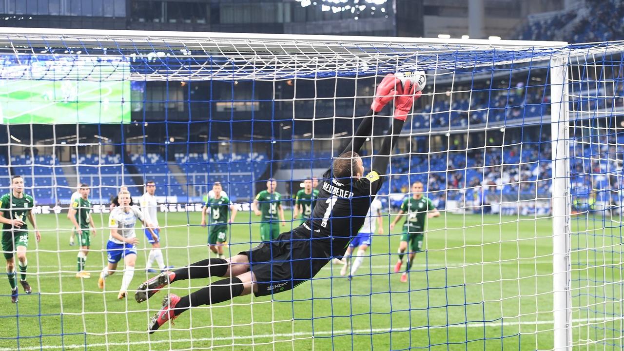 Динамо - Рубин, 0:1. Сейв Медведева