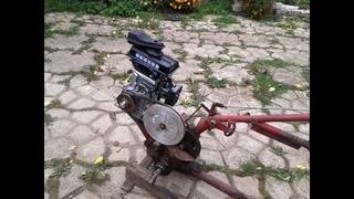 Ставим новый двигатель на самодельный культиватор.