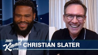 Christian Slater on Chris Evans Tweeting About Him, Potty Training His Daughter & Playing a Doctor