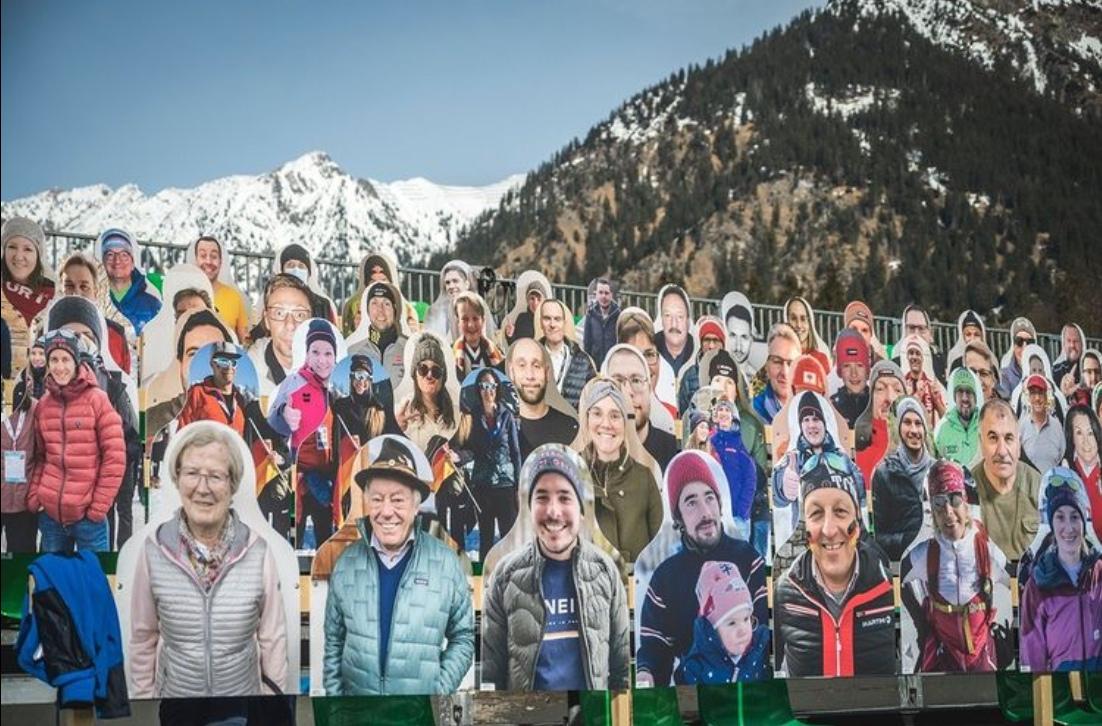 Трибуны чемпионата мира в Оберстдорфе