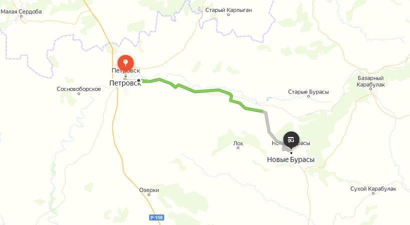 АО «Петровское АТП» запустило новый маршрут движения общественного транспорта - от Петровска до районного посёлка Новые Бурасы