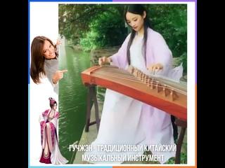 🎼 Гучжэн - традиционный китайский музыкальный инструмент.