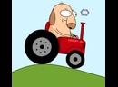 Красный трактор едет к Карине