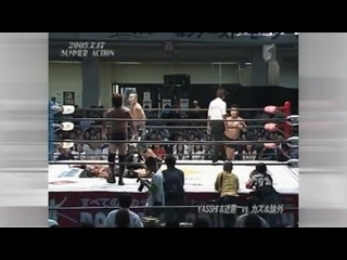 "Shuji Kondo & ""brother"" YASSHI (c) vs. Kaz Hayashi & NOSAWA Rongai"