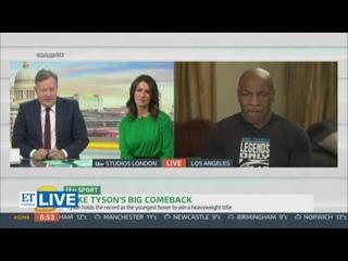 Майк Тайсон едва не уснул в прямом эфире на британском телевидении