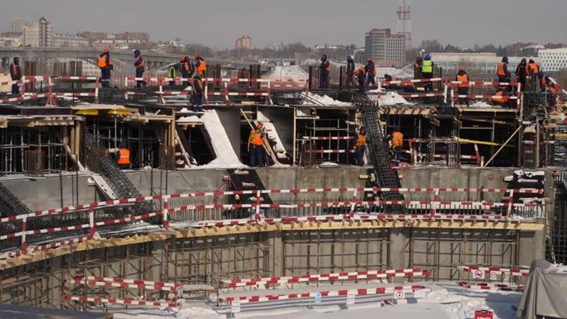 НОВАЯ АРЕНА В ОМСКЕ: ИТОГИ ФЕВРАЛЯ   Строительство «Арены Омск»   Новый дом Авангарда
