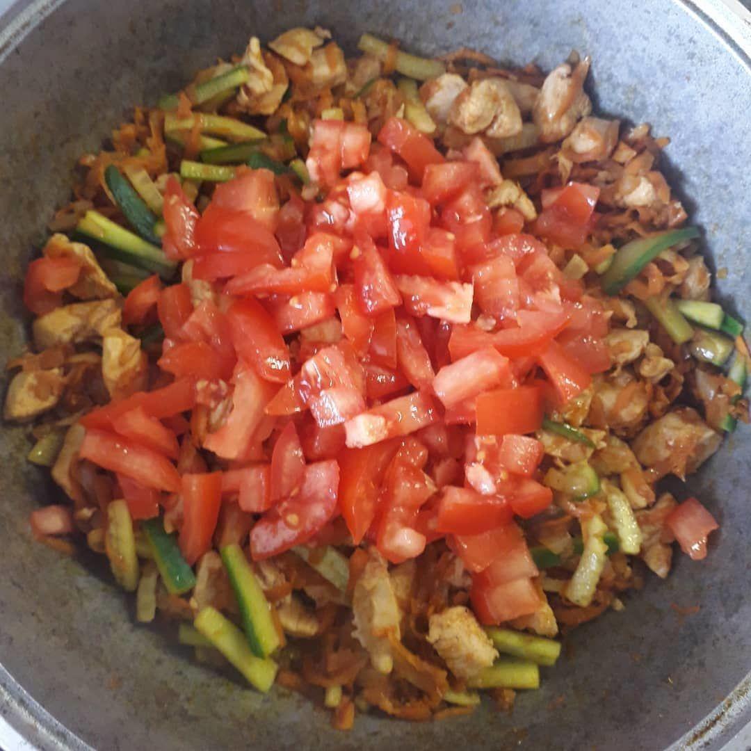 Фунчоза с курочкой и овощами