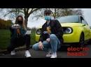 Eilis plays Mario Kart in a Honda E with Bastilles Kyle Simmons