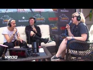 Kat Corbett talks with PVRIS at the KROQ Coachella House