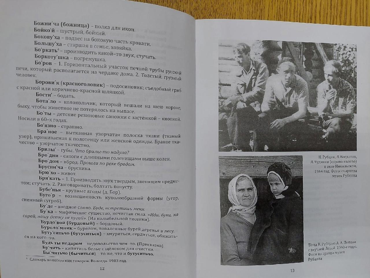 В год 85-летия Николая Рубцова вышел в свет «Словарь толшменских говоров» 📖