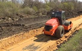 Ремонт дороги в Сухой Лубне стартовал
