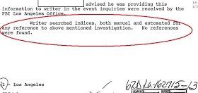 Сотрудник искал вручную и автоматически любые упоминания вышеназванного расследования. Ничего не обнаружено.