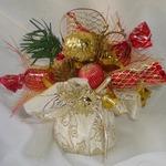 Новогодние конфетные букеты и композиции своими руками