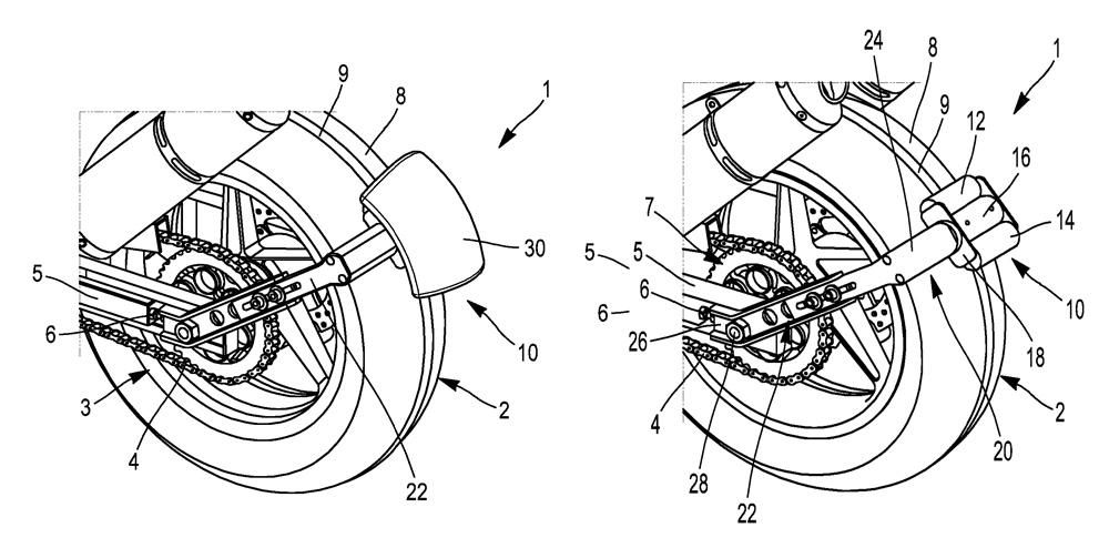 Компания Michelin запатентовала заднее крыло с внешним приводом для колеса