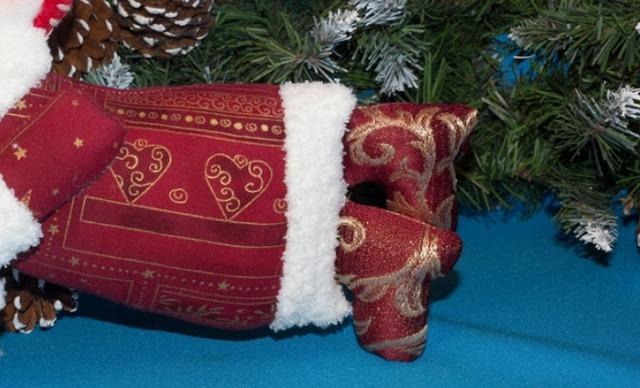 снеговик, как сделать снеговика из ткани своими руками мастер-класс,