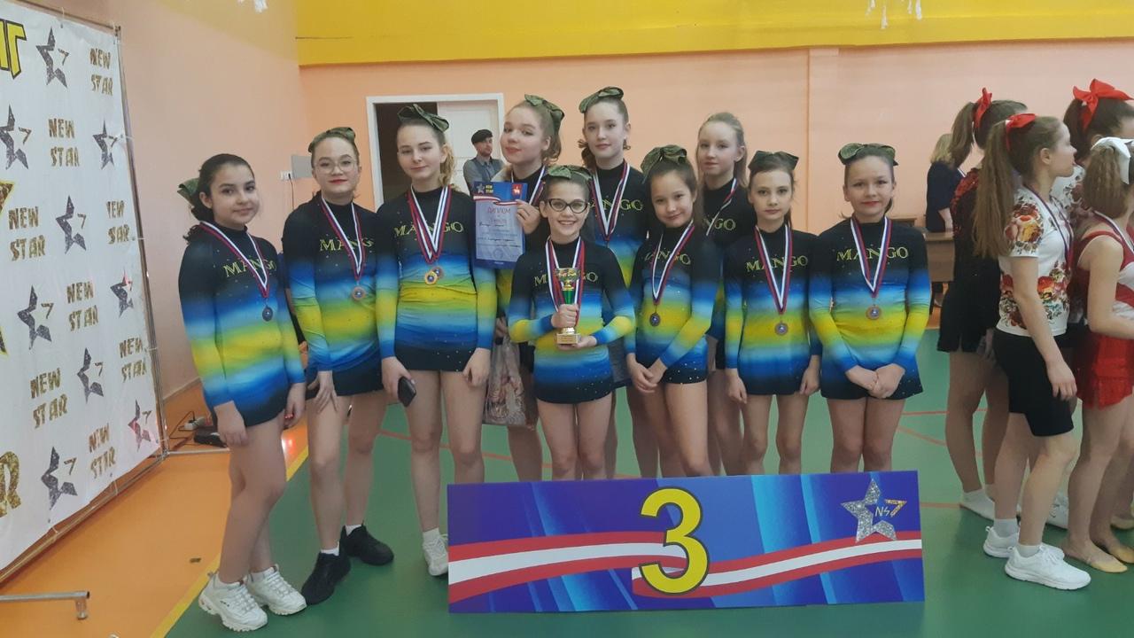 Команда «MANGO» в чир спорт-2021г. - первая в Перми