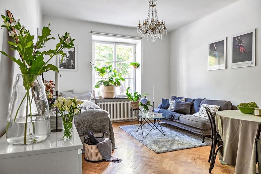 Интерьер скандинавской квартиры-студии 26 кв.