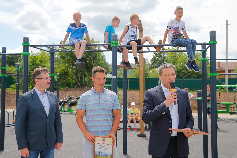 Открытие профессиональной воркаут-площадки в Суздале